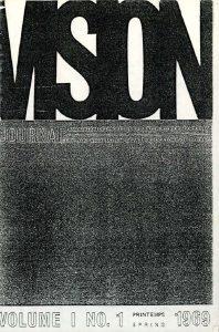 thumbnail of Vision_No 1 printemps 1969