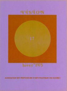 thumbnail of Vision_No 17 hiver 1975