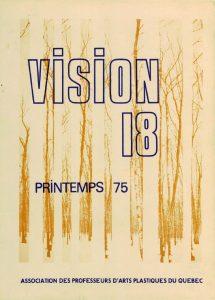 thumbnail of Vision_No 18 printemps 1975